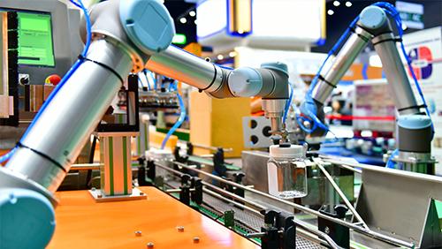 産業用ロボットの見学